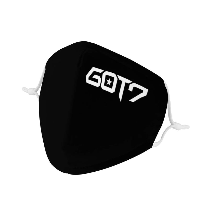 GOT7 Logo Mask / Triple Layer Face Mask w/ Fitted Nose Wire, w/ Anti Dust Protection Filters, Reusable, Adjustable Straps (Handmade)
