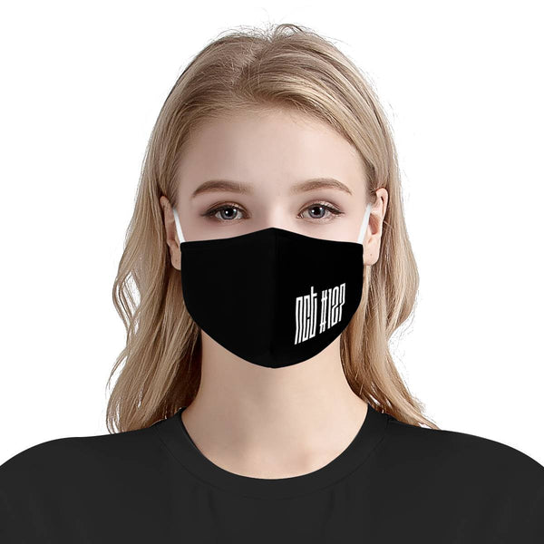 NCT127 Kpop Logo | Kpop Fashion Streetwear Cotton Face Mask  | CDC Rec 3 Layer Face Mask w/ Fitted Nose Wire, Anti Dust Filters, Reusable, Adjustable Straps (Handmade)