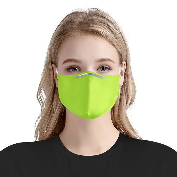 Neon Lime Green Burst Face Mask | Soft & Silky Triple Layer w/ Nose Wire & 4 Filters
