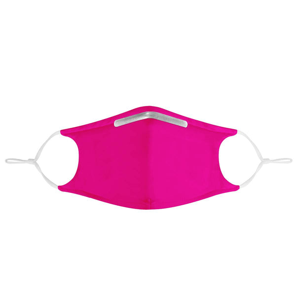 Solid Pink Mask | CDC Rec 3 Layer Face Mask w/ Fitted Nose Wire, Anti Dust Filters, Reusable, Adjustable Straps (Handmade)