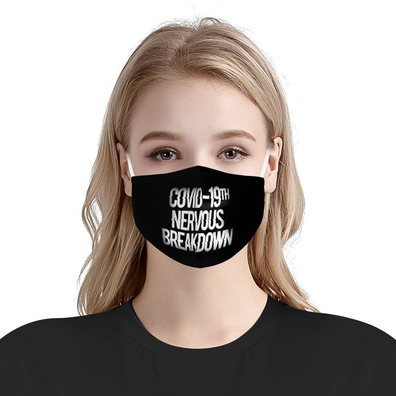 Rolling Stone Covid 19th Nervous Breakdown | CDC Rec 3 Layer Face Mask w/ Fitted Nose Wire, Anti Dust Filters, Reusable, Adjustable Straps (Handmade)
