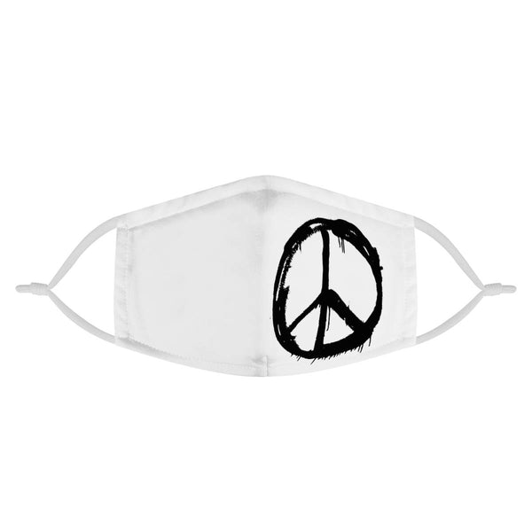 Peace Sign Graffiti | CDC Rec 3 Layer Face Mask w/ Fitted Nose Wire, Anti Dust Filters, Reusable, Adjustable Straps (Handmade)
