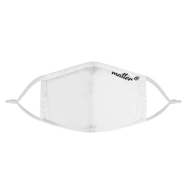 Solid White Matter Mask | Fashion Face Mask