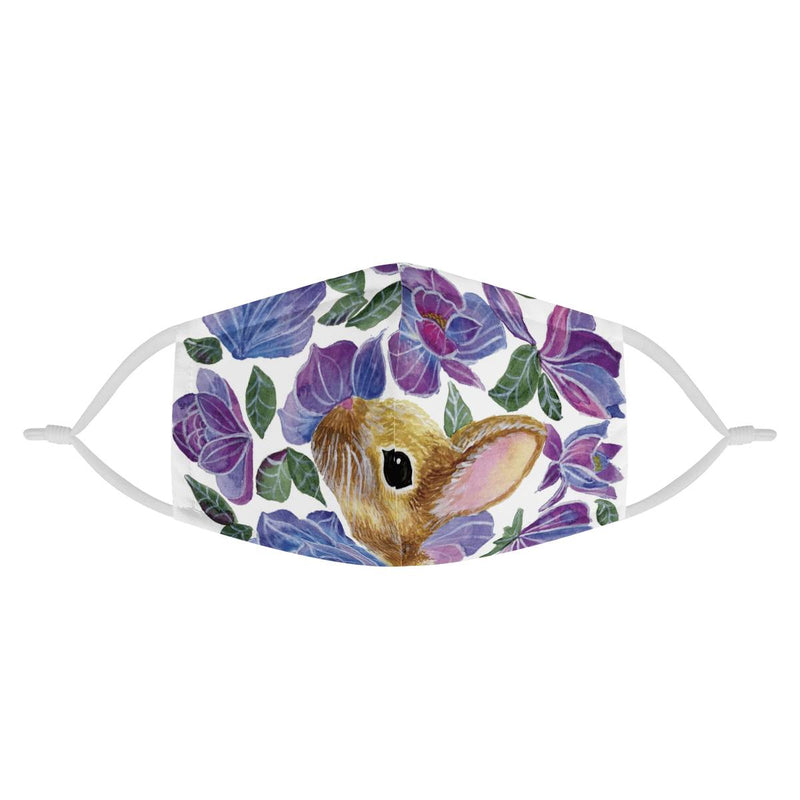 Bunny Love | CDC Rec 3 Layer Face Mask w/ Fitted Nose Wire, Anti Dust Filters, Reusable, Adjustable Straps (Handmade)