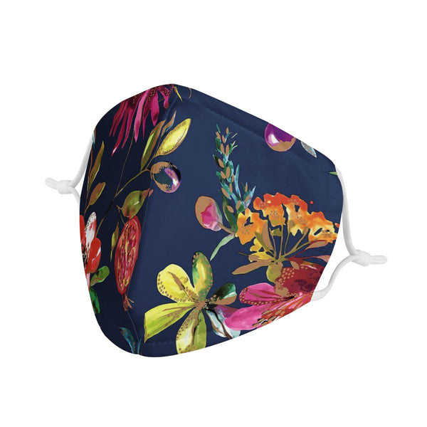 Fruit Garden | CDC Rec 3 Layer Face Mask w/ Fitted Nose Wire, Anti Dust Filters, Reusable, Adjustable Straps (Handmade)