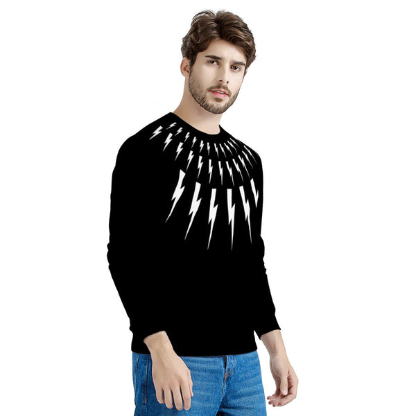 Lightning Bolt Sweater (LONG SLEEVE TEE) David Rose | Print on Front & Back! | Schitt's Creek Sweater
