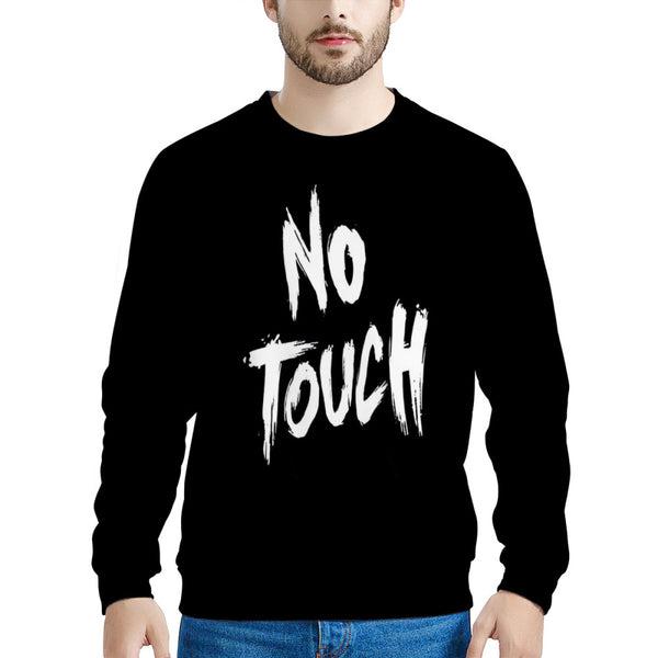 No Touch (LONG SLEEVE TEE) Funny Sweatshirt | Print on Front & Back! | Schitt's Creek Sweater | Lightning Bolt Sweatshirt