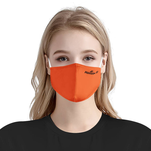 Solid Orange Matter Mask | Fashion Face Mask
