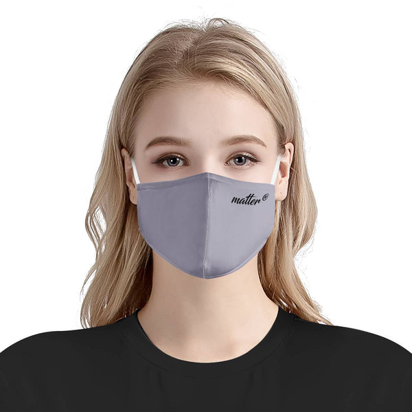 Solid Lavender Matter Mask | CDC Rec 3 Layer Face Mask w/ Fitted Nose Wire, Anti Dust Filters, Reusable, Adjustable Straps (Handmade)