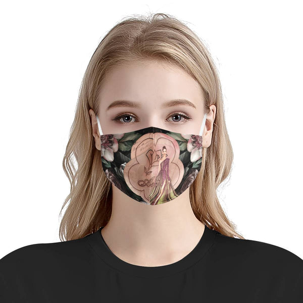 Queen Arosa | 100% Soft Pima Cotton Triple Layer Face Mask