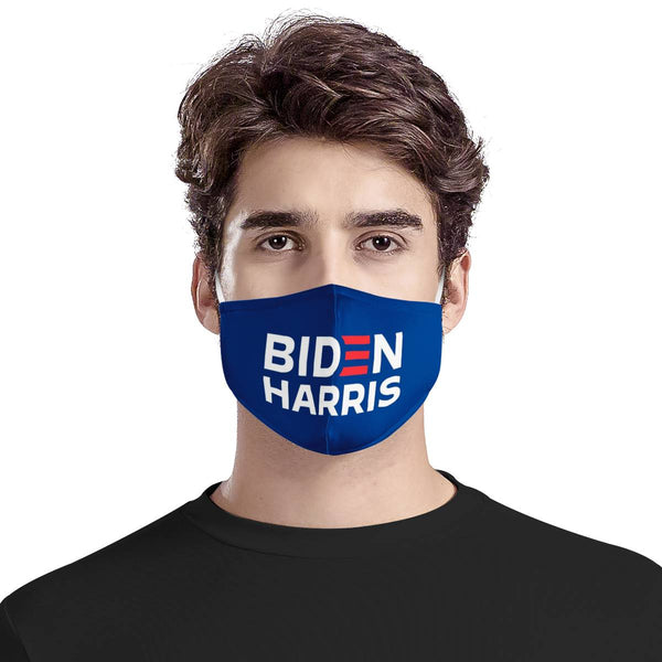 BIDEN HARRIS 2020 Face Mask / Triple Layer Face Mask w/ Fitted Nose Wire, w/ Anti Dust Protection Filters, Reusable, Adjustable Straps