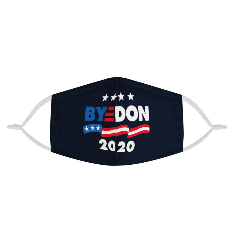 BYE DON 2020 (Biden Harris 2020) / Triple Layer Face Mask w/ Fitted Nose Wire, w/ Anti Dust Protection Filters, Reusable, Adjustable Straps