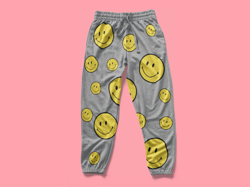 Smiley Face (SWEAT PANTS)