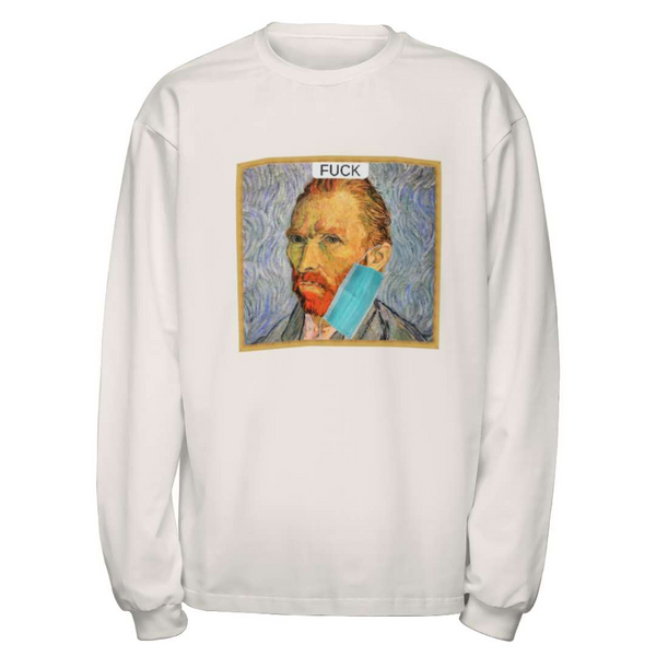 Masked Van Gogh Wearing Mask Sweater