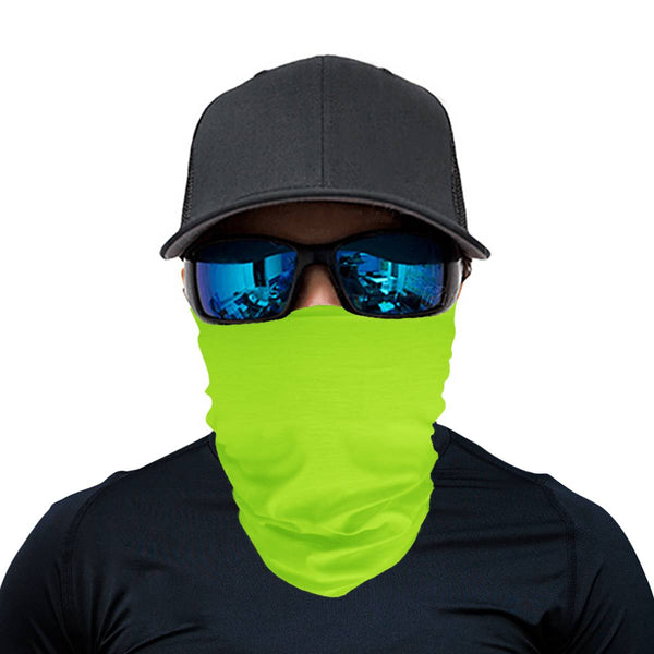 Solid Lime Green Scarf Wrap Mask | Fashion Face Mask