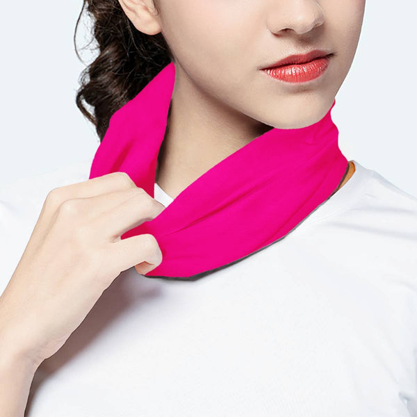 Solid Princess Pink Scarf Wrap Mask | Fashion Face Mask