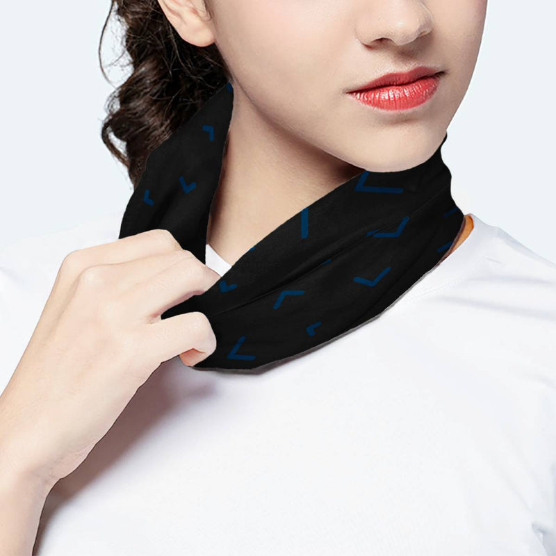 Sprinkle Pattern Black Scarf Wrap Mask | Fashion Face Mask