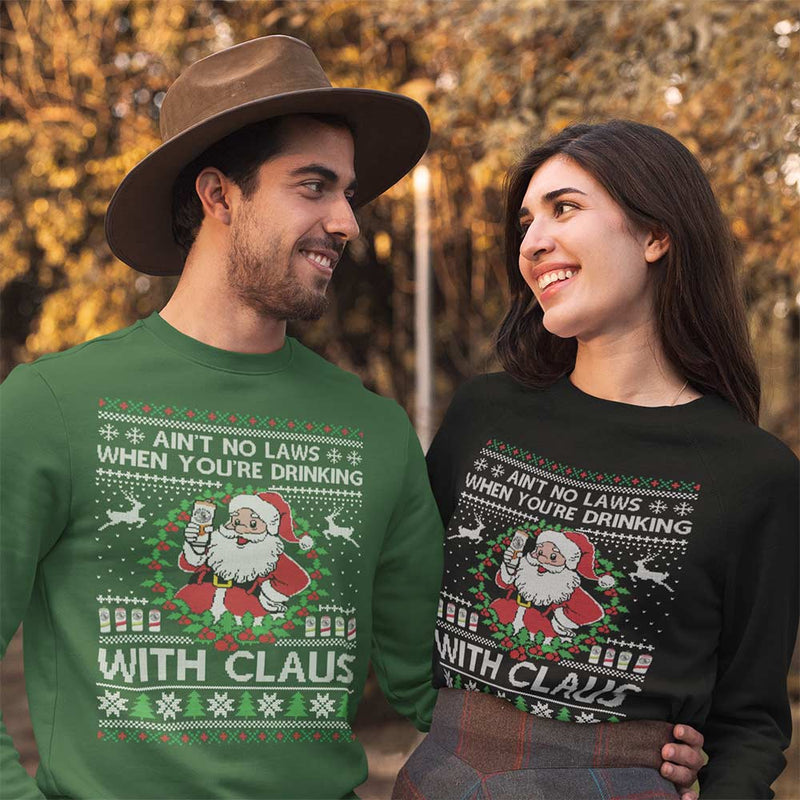 Aint no Laws (Thick Sweater) Cute Ugly Christmas Sweater