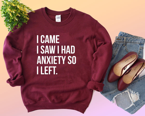 I Came. I Saw I Had Anxiety So I Left (THICK SWEATER)