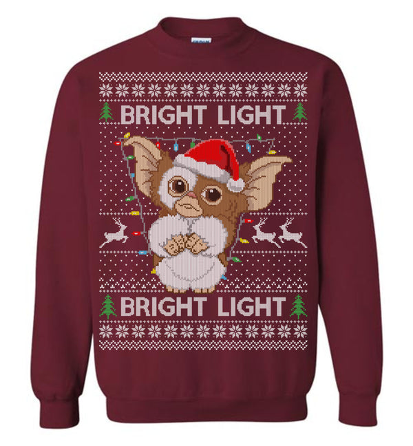 Gremlins Bright Light (LONG SLEEVE TEE) Cute Ugly Christmas Sweater