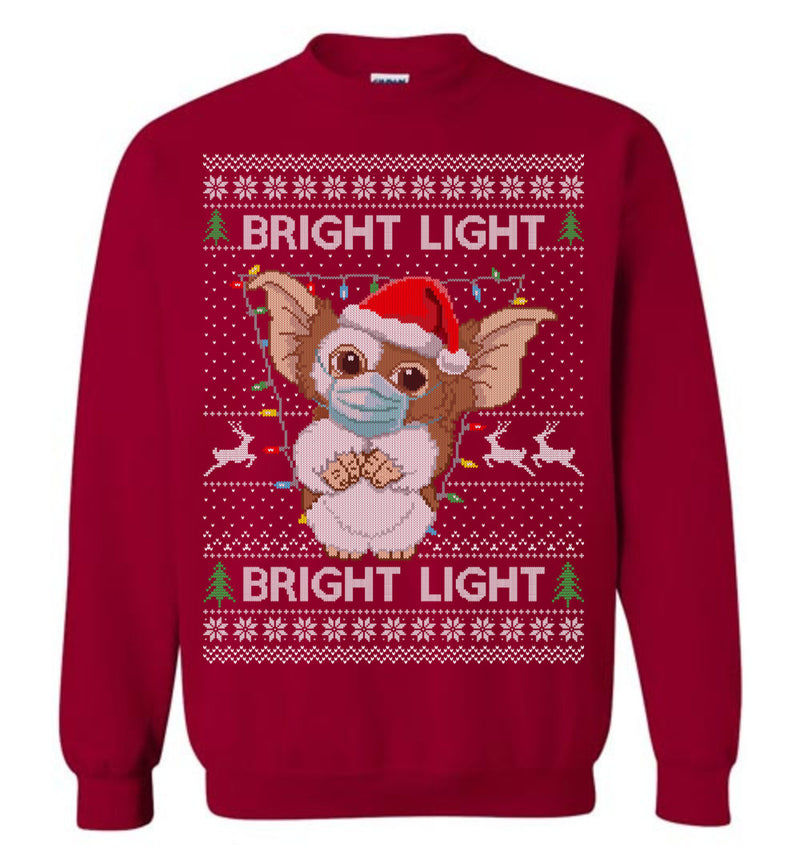 Gremlins Bright Light with Masks (LONG SLEEVE TEE) Cute Ugly Christmas Sweater