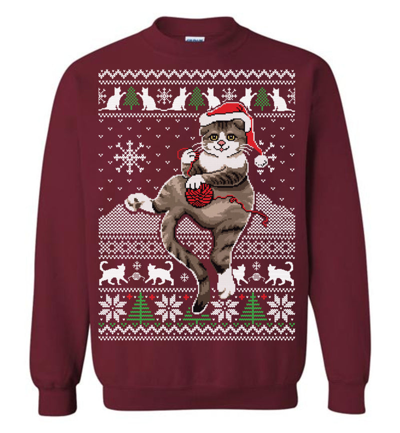 Xmas Cat (Thick Sweater) Cute Ugly Christmas Sweater