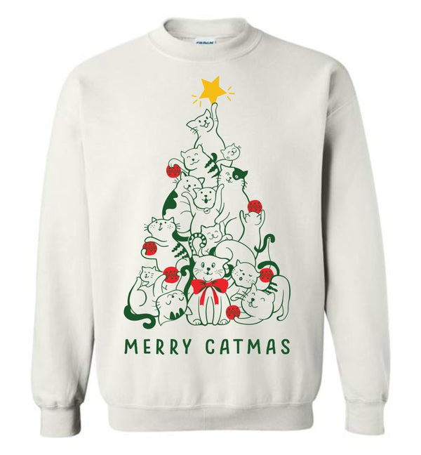 Merry Catmas (Thick Sweater) Cute Ugly Christmas Sweater