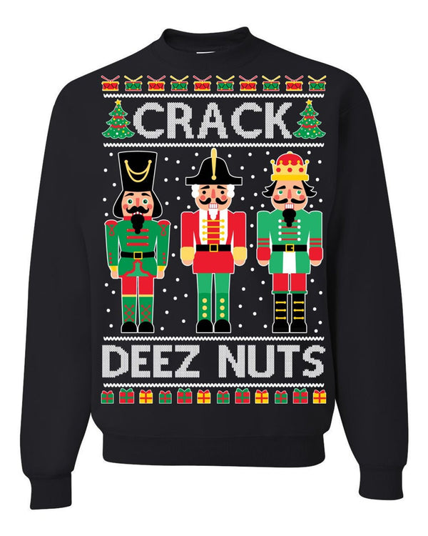 Crack (Thick Sweater) Cute Ugly Christmas Sweater
