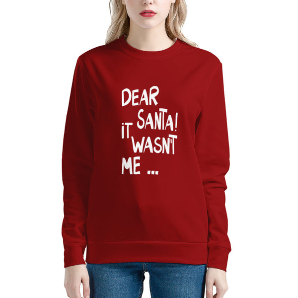 Dear Santa It's Wasn't Me (Thick Sweater) Cute Ugly Christmas Sweater