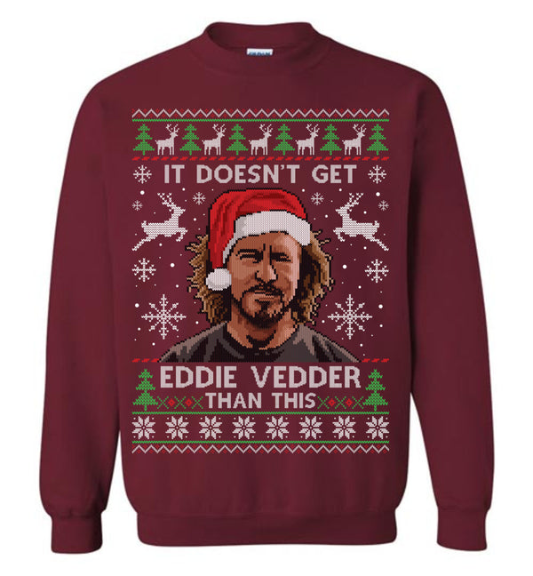 Eddie Vedder (LONG SLEEVE TEE) Cute Ugly Christmas Sweater