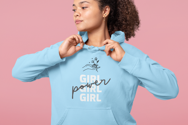 Girl Power Floral Hoodie - Feminist Sweater