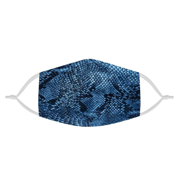 Blue Snake Skin Pattern Animal Face Mask | Soft & Silky Triple Layer Anti Dust Face Mask w/ Nose Wire, Free Filters, Reusable, Handmade