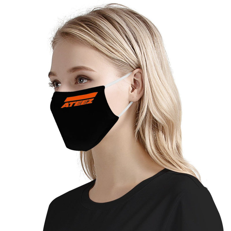 ATEEZ Print Kpop Mask Fanmade / CDC Rec Fashion Face Mask w/ Anti Dust Protection Filters / Fabric, Handmade, 3 Layer