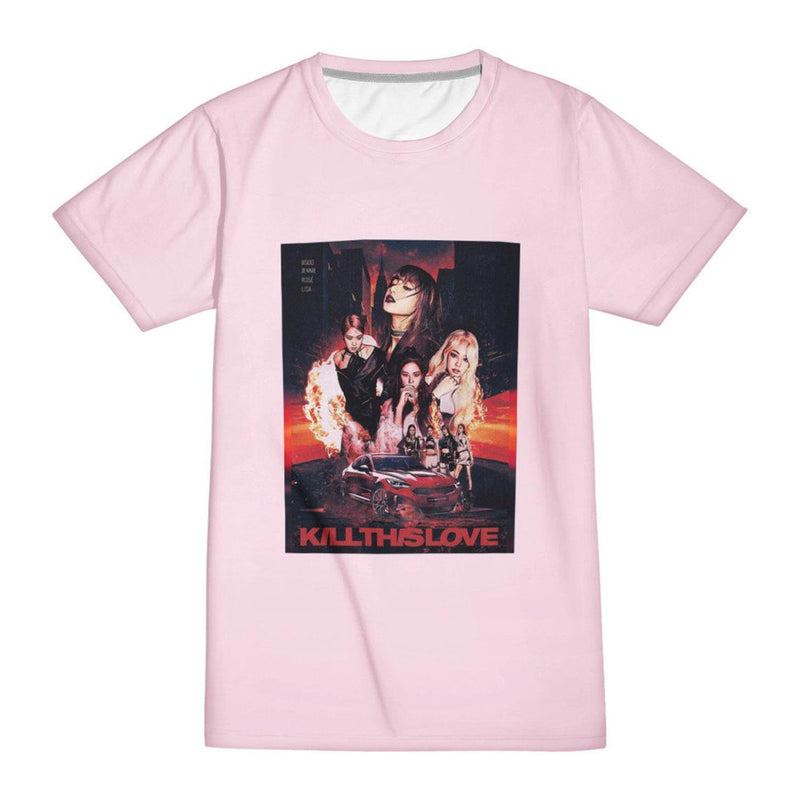 Kill This Love (REGULAR TEE) Blink Unisex Kpop Tee | Comfy Warm Fashionable High Quality Handmade | Jennie Jisoo Rose Lisa Blink