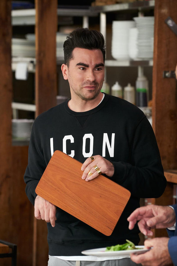 Icon (LONG SLEEVE TEE) Badass Fashion Sweatshirt | Print on Front & Back! | Schitt's Creek Sweater | Schitts Creek Fan Gift