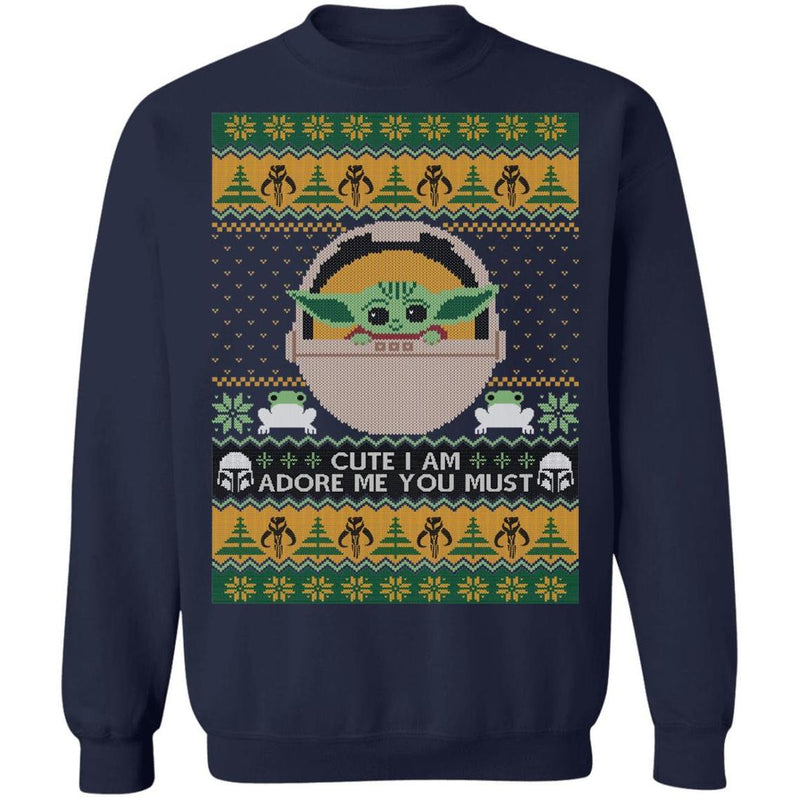 Cute I Am, Adore Me You Must (THICK SWEATER) Cute Ugly Christmas Sweater