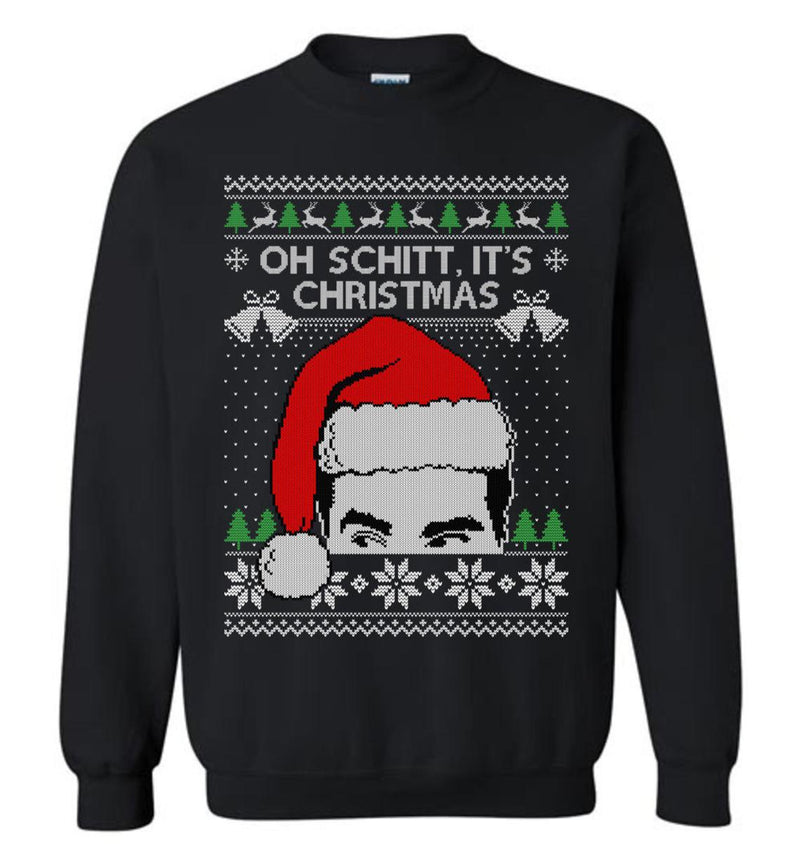 Oh Schitt, It's Christmas (LONG SLEEVE TEE) Ugly Christmas Sweater
