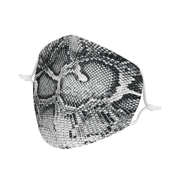 Snake Skin Pattern Animal Face Mask | Soft & Silky Triple Layer Anti Dust Face Mask w/ Nose Wire, Free Filters, Reusable, Handmade
