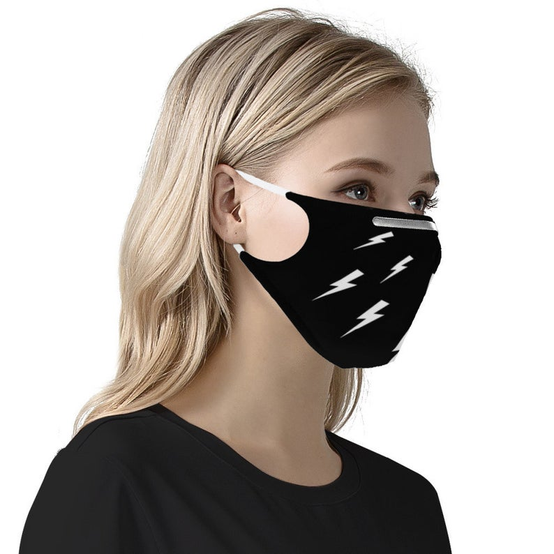 Lightning Bolt (MASK) Schitt's Creek Soft & Silky Double Layer Face Mask w/ Free Filters