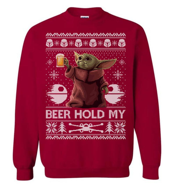 Beer Hold My (THICK SWEATER) Cute Ugly Christmas Sweater