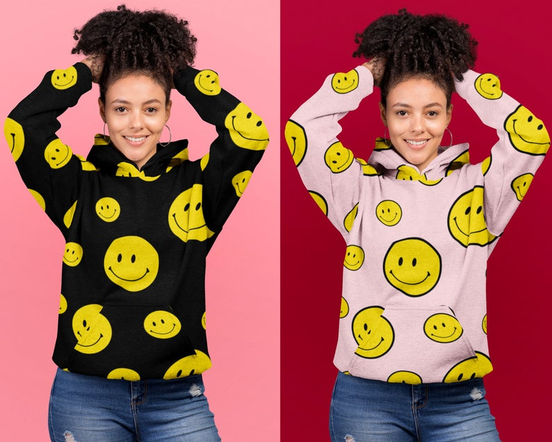 Smiley Happy Face Emoji Hoodie (HOODIE)
