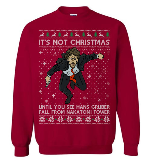 Hans Gruber (LONG SLEEVE TEE) Cute Ugly Christmas Sweater