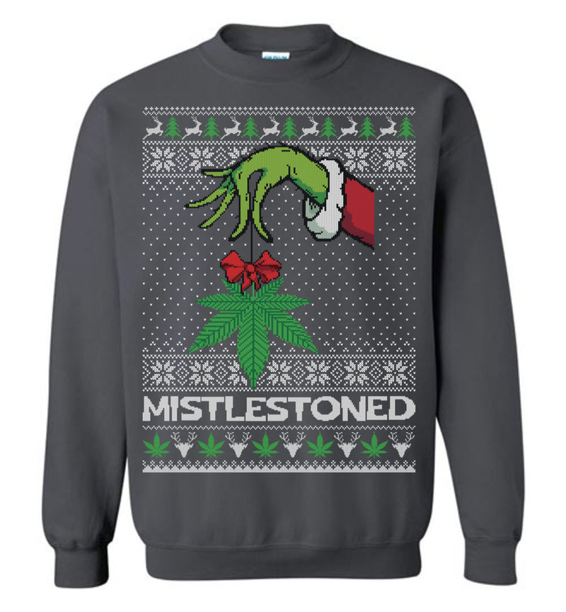 MISTLESTONED (THICK SWEATER) Cute Ugly Christmas Sweater