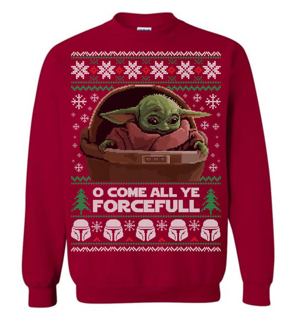 O Come All Ye Forcefull (Thick Sweater) Cute Ugly Christmas Sweater