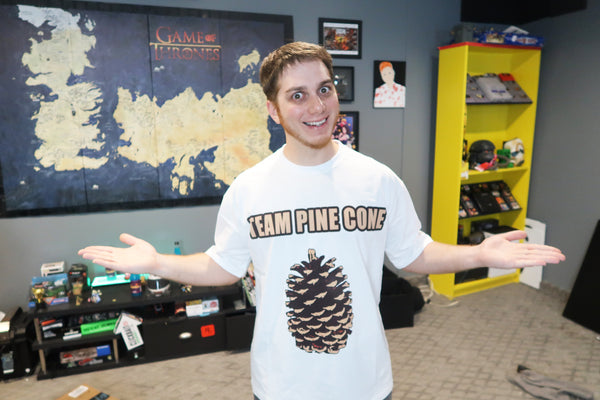 Lasercorn's Team Pinecone T-shirt (Black)