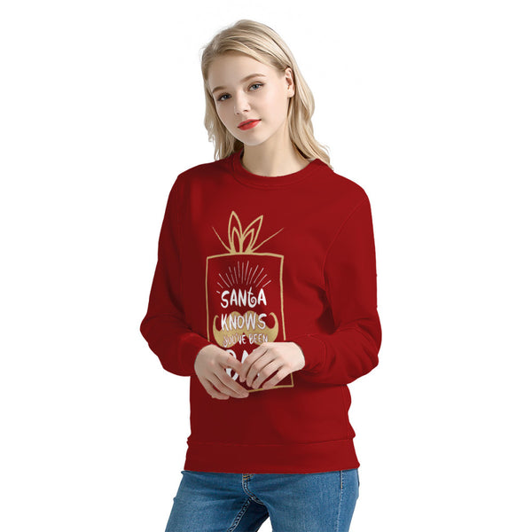 Santa Knows (Thick Sweater) Cute Ugly Christmas Sweater