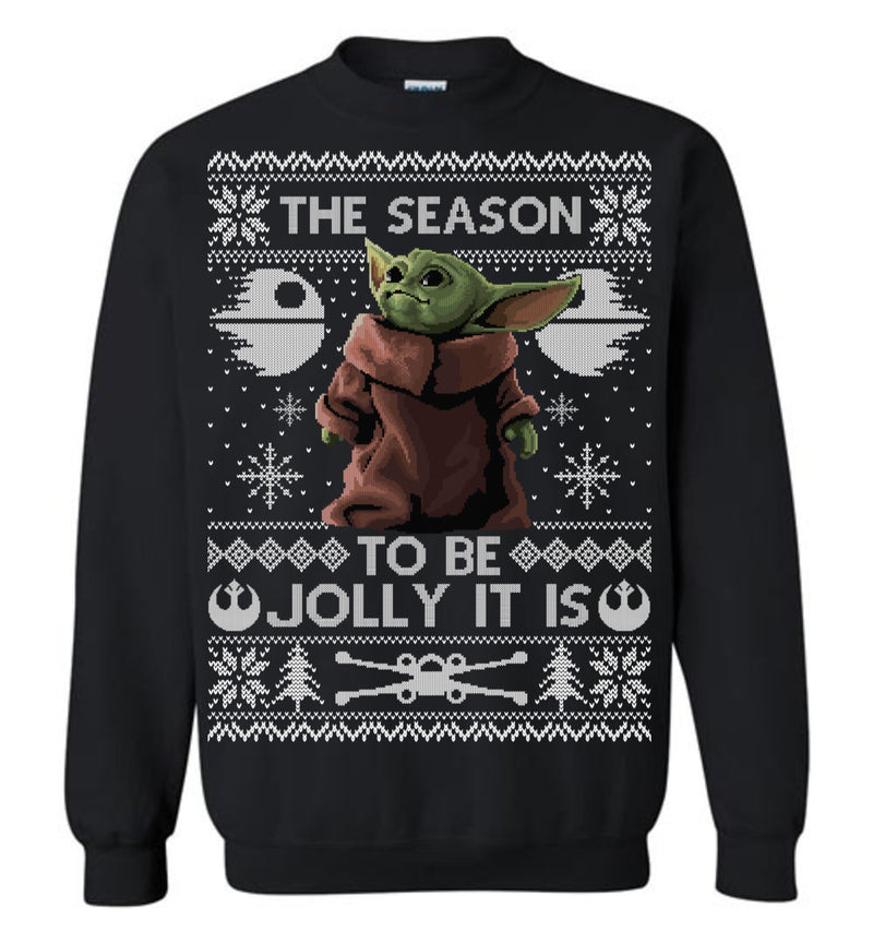 The Season to be Jolly It Is (LONG SLEEVE TEE) Cute Ugly Christmas Sweater