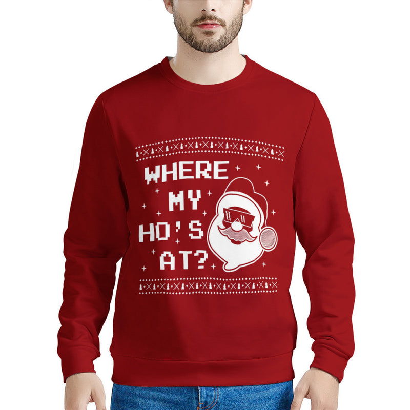 Where My Ho's At (Thick Sweater) Cute Ugly Christmas Sweater