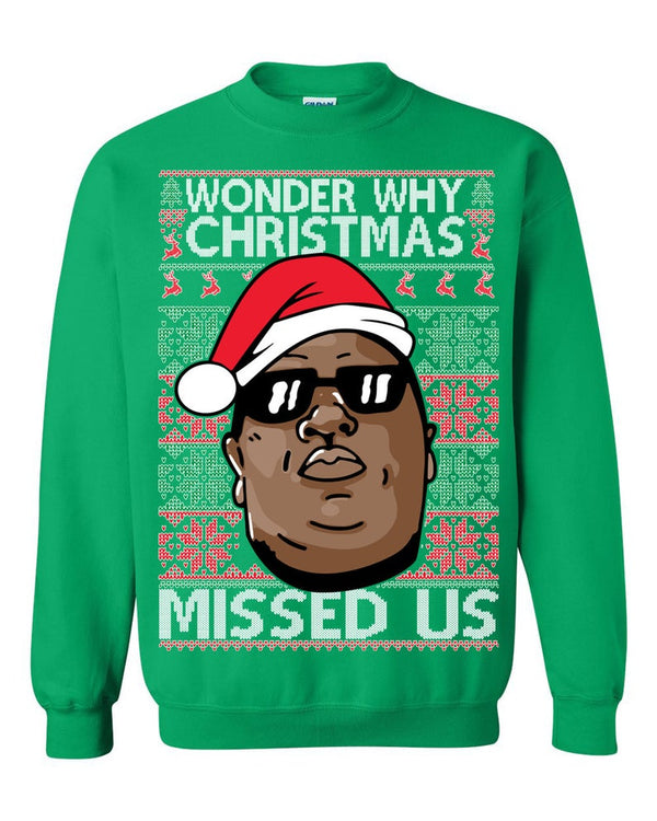Biggie - Hip Hop (THICK SWEATER) Cute Ugly Christmas Sweater
