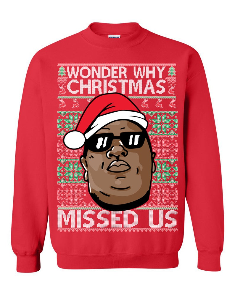 Biggie - Hip Hop (LONG SLEEVE TEE) Cute Ugly Christmas Sweater